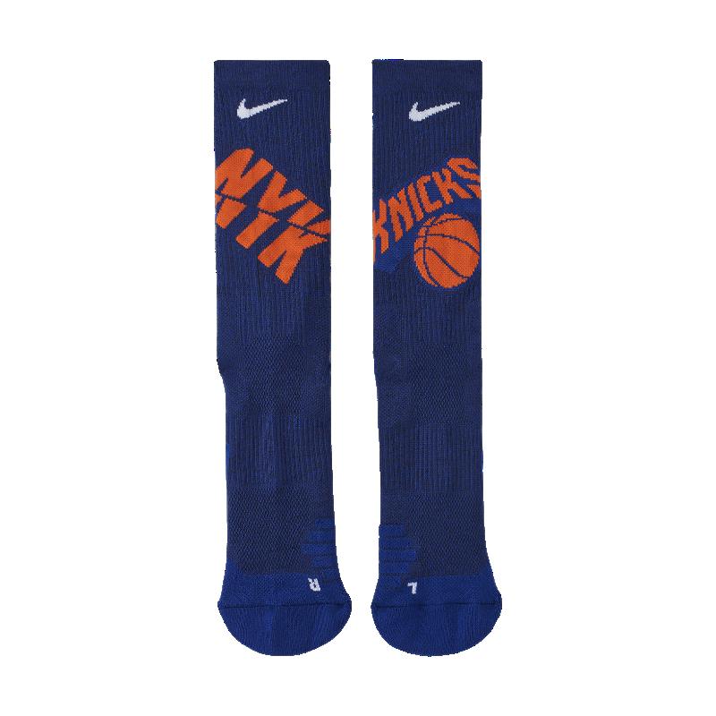 <ナイキ(NIKE)公式ストア>ニューヨーク ニックス ナイキ エリート NBA クルー ソックス SX7609-495 ブルー