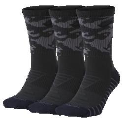 <ナイキ(NIKE)公式ストア>ナイキ エブリデイ マックス クッション カモ トレーニング クルー ソックス (3足) SX7630-060 ブラック 30日間返品無料 / Nike+メンバー送料無料画像