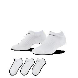 好評2019年12月発売!<ナイキ(NIKE)公式ストア>ナイキ エブリデイ クッションド トレーニング ノーショウ ソックス (3足) SX7673-100 ホワイト画像