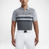 Deals on Nike Modern Fit Transition Dry Stripe Mens Slim Fit Golf Polo