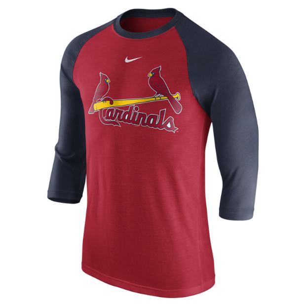 Nike 3 4 Raglan Wordmark Mlb Cardinals Men 39 S Shirt