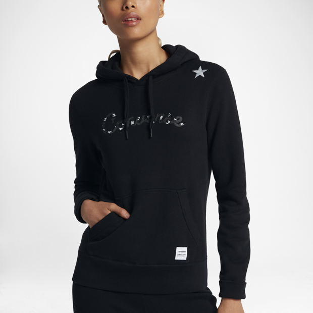 converse essentials leopard star pullover women 39 s hoodie. Black Bedroom Furniture Sets. Home Design Ideas