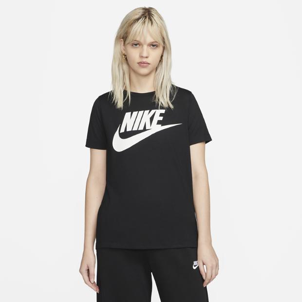 Nike sportswear essential women 39 s logo short sleeve top for Nike custom t shirts