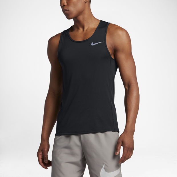 Nike dry miler men 39 s running tank for Best athletic dress shirts
