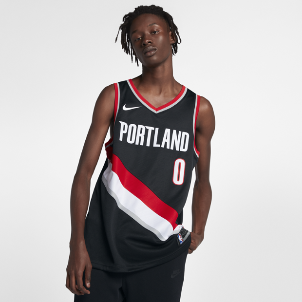 Portland Trail Blazers Espn Nba: Damian Lillard Icon Edition Swingman Jersey (Portland