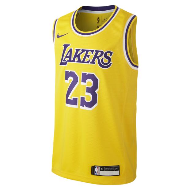 sale retailer 78b9c 45a7e LeBron James Los Angeles Lakers Nike Icon Edition Swingman NBA-jersey för  ungdom. Nike.com SE