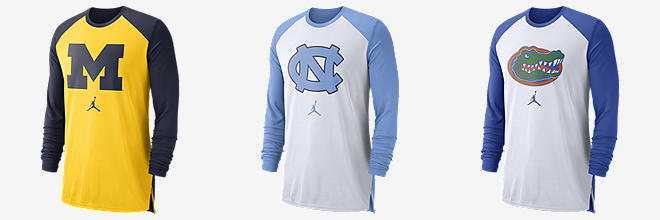 869269562 Next. 3 Colors. Jordan College Breathe (Michigan). Men s Long-Sleeve Top.   65. 1 Color. Charlotte Hornets Jordan Dri-FIT. Men s NBA T-Shirt