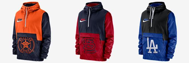 pretty nice 407a2 81184 Nike (MLB Cubs). Men s Hooded Baseball Jersey.  100. Prev