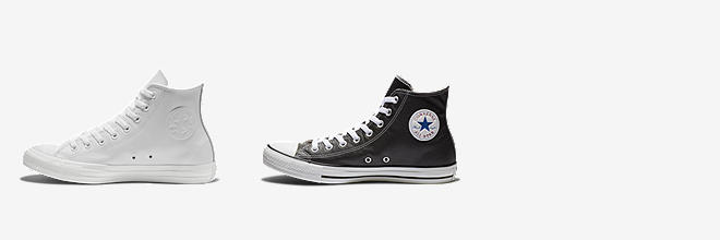 converse shoes leather
