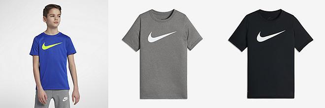 Nike Golf Camo Boys' T-Shirt - Black/White : J38i5440