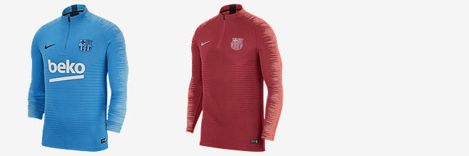 26d35ce30 Prev. Next. 2 Colours. FC Barcelona VaporKnit Strike Drill. Men s Long- Sleeve Football Top