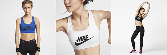 c471003123cbb Next. 3 Colours. Nike Classic Swoosh Futura. Women s Medium-Support Sports  Bra. ₹1