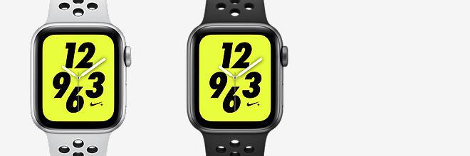 apple watch nike+ series 4 (gps) avec bracelet nike sport band montre sport 40 mm