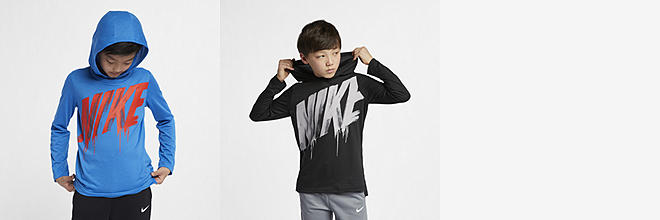 c6639a1a Next. 2 Colors. Nike Breathe. Big Kids' Long-Sleeve Hooded Training Top.  $35. 1 Color. Nike Sportswear. Big Kids' (Boys') T-Shirt