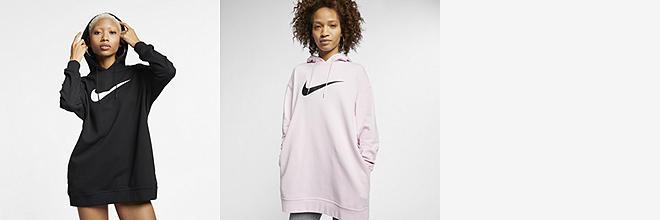 2c136ad00cd6 Nike Sportswear Swoosh. Women s Cropped French Terry Hoodie.  60. Prev