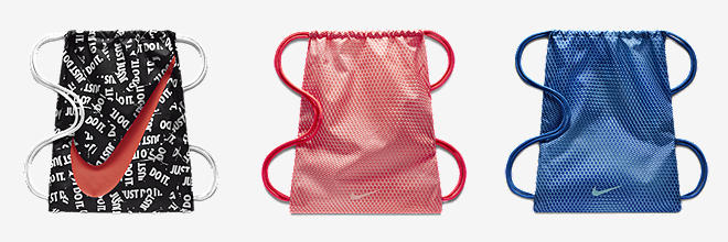 fa07c7f83bd Nike Logo Draw String Bag Gym Bag Pink   Blue Gym-sack BZ9756-605  Amazon.co .uk  Luggage