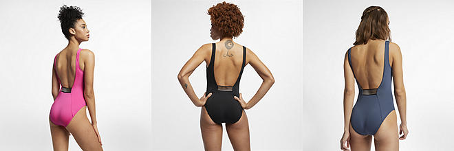 467210566 Nike Shine Stripe Crossback. Women's One-Piece Swimsuit. $100 $74.97. Prev