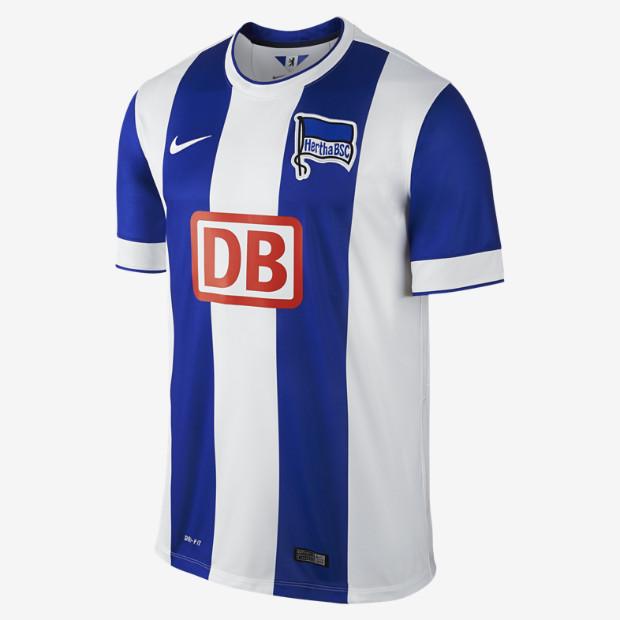 2014 15 Hertha BSC Berlin Stadium Mens Soccer Jersey 618823 490 A